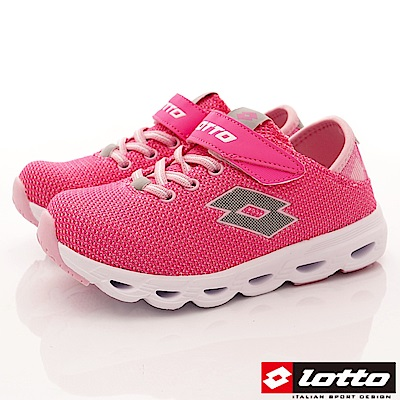 Lotto義大利運動鞋 風動機能跑鞋款 RSI723粉紅(中大童段)