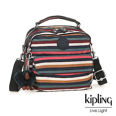 Kipling繽紛仲夏條紋兩用側背後背包
