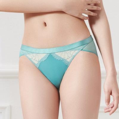 黛安芬-璀璨水感動系列低腰內褲 M-EL 土耳其藍