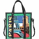 BALENCIAGA Bazar 巴黎城市系列羊皮托特包