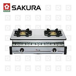 櫻花牌 SAKURA 全白鐵嵌入爐 G-6320K 桶裝瓦斯 限北北基配送