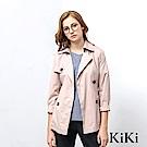KiKi INLook 優雅合身收腰短版風衣(杏色)