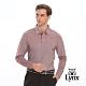 【Lynx Golf】男款吸濕排汗絲光立體網眼口袋長袖POLO衫-暗紅色 product thumbnail 2