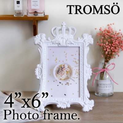 TROMSO皇家巴洛克4x6相框-皇冠白