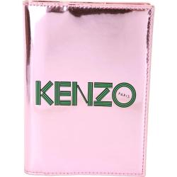 KENZO 幾何LOGO鏡面皮革護照夾(粉色)