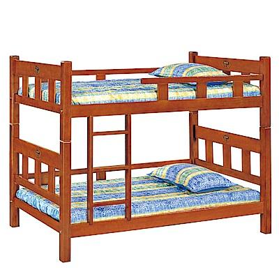 品家居 奇德3.5尺實木單人雙層床架組合(不含床墊)-198x111x152cm免組