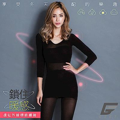 GIAT 零肌著遠紅外線隱形美體發熱衣(黑色)
