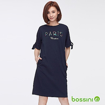 bossini女裝-長版洋裝01海軍藍