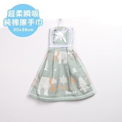 【Quasi】超柔瞬吸造型擦手巾-北極熊(100%棉)