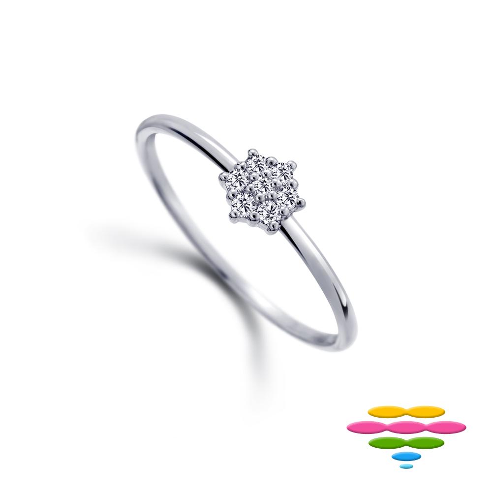 彩糖鑽工坊 14K 小花鑽石戒指 小確幸 系列 (女戒)