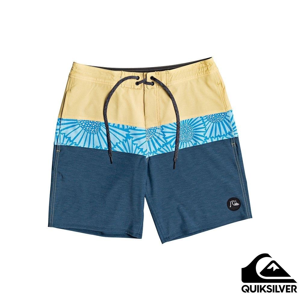 【 QUIKSILVER】MICRODOSE BEACHSHORT 19 衝浪休閒褲 黃色