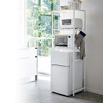 日本 YAMAZAK-tower原木加高型收納架(白)★收納架/電器櫃/儲物櫃