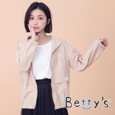 betty's貝蒂思 連帽束口防風外套(卡其)