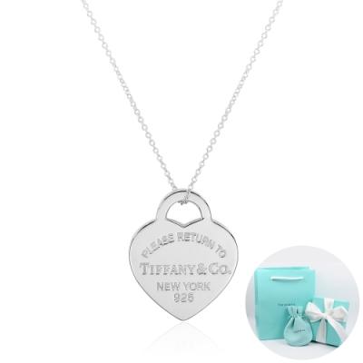 Tiffany&Co. Return to Tiffany 經典中型愛心純銀項鍊