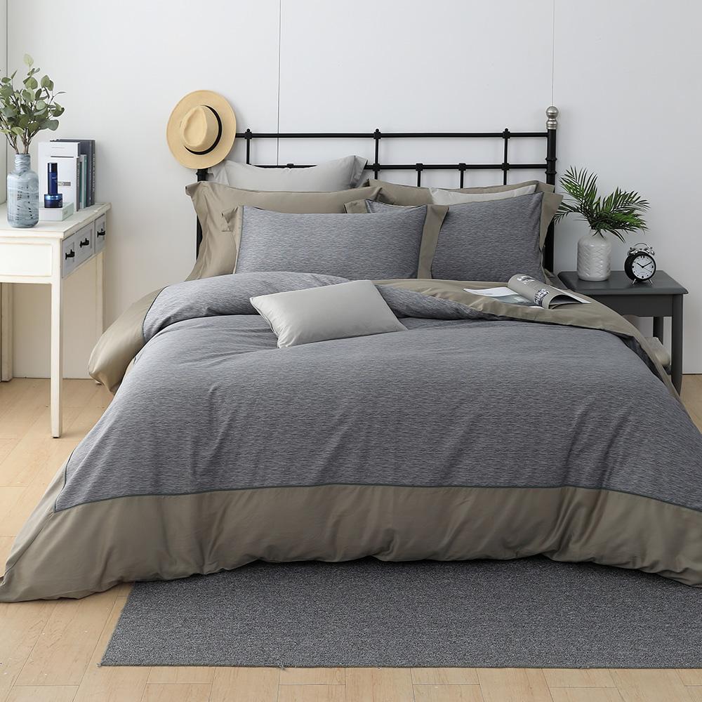 LASOL睡眠屋-300織設計款精梳棉 加大兩用被床包四件組 流金歲月