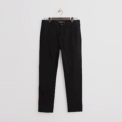 Hang Ten - 男裝 - 純色休閒長褲-黑色