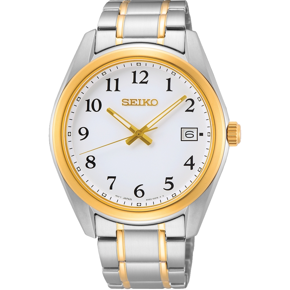 SEIKO精工 經典簡約時尚腕錶 6N52-00F0KS(SUR460P1)-40.2mm
