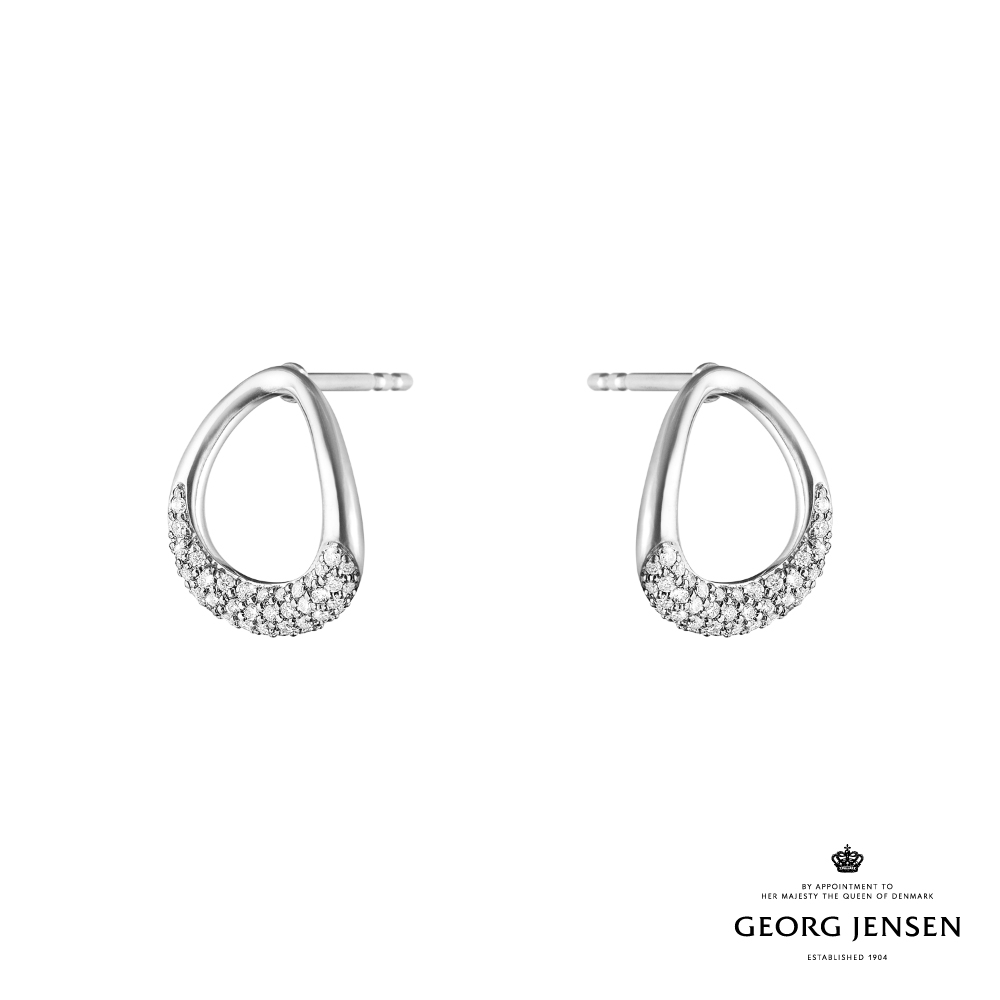 Georg Jensen 喬治傑生 OFFSPRING 純銀鑽石耳環
