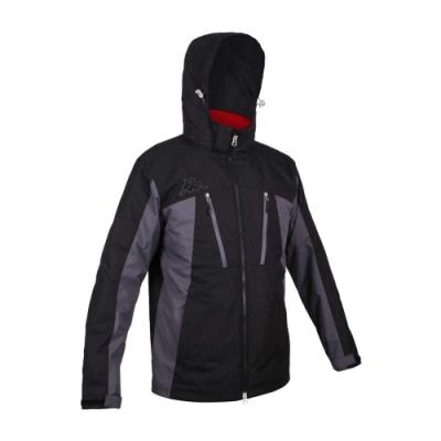 KAPPA 男兩件式外套-連帽外套 反光 保暖 刷毛 風衣 防風 33126WW-A0C 黑紅
