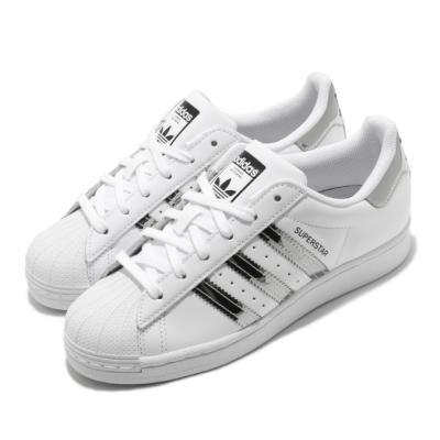 adidas 休閒鞋 Superstar 復古 低筒 女鞋 愛迪達 三葉草 貝殼頭 皮革鞋面 穿搭 白 銀 FW3915