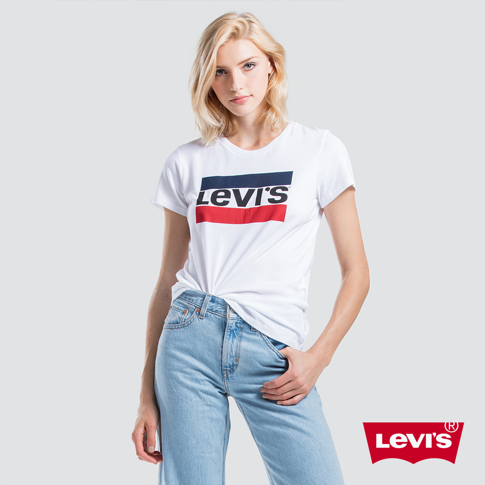 Levis 女款 短袖T恤 / Sportwear Logo / 白 延續款