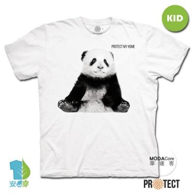 摩達客-美國The Mountain保育系列小貓熊 兒童幼兒 白色純棉短袖T恤