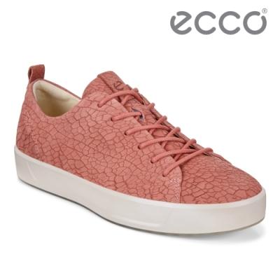 ECCO SOFT 8 W 簡約休閒鞋 女鞋-花瓣紅