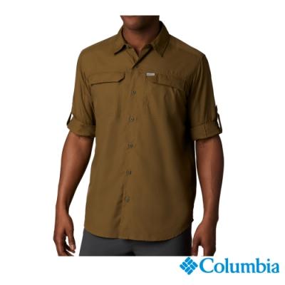 Columbia 哥倫比亞 男款-UPF50 快排長袖襯衫-軍綠