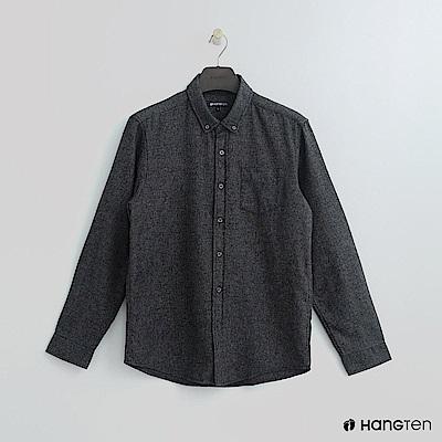 Hang Ten - 男裝 - 單口袋混色純棉襯衫 - 灰