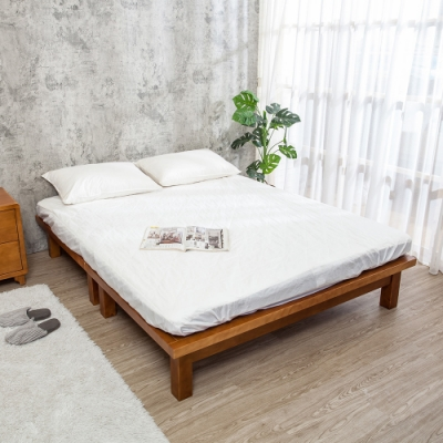 Boden-森林家具 柯特5尺雙人全實木床底(不含床頭片及床墊)