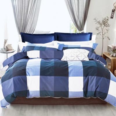 A-ONE 雪紡棉 雙人加大床包/枕套 三件組- 蘭格之夜 MIT台灣製