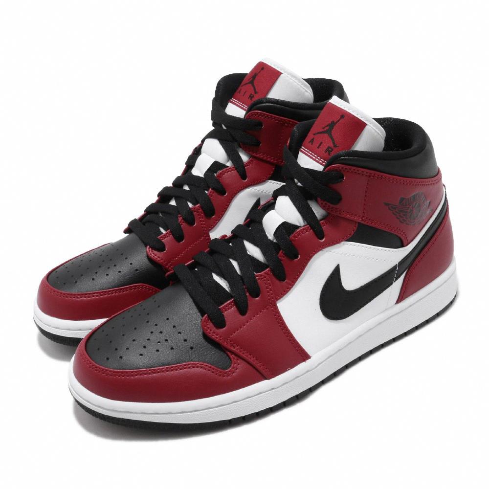 Nike 休閒鞋 Air Jordan 1代 男鞋 喬丹 AJ1 8孔 芝加哥 Chicago 黑紅 554724069