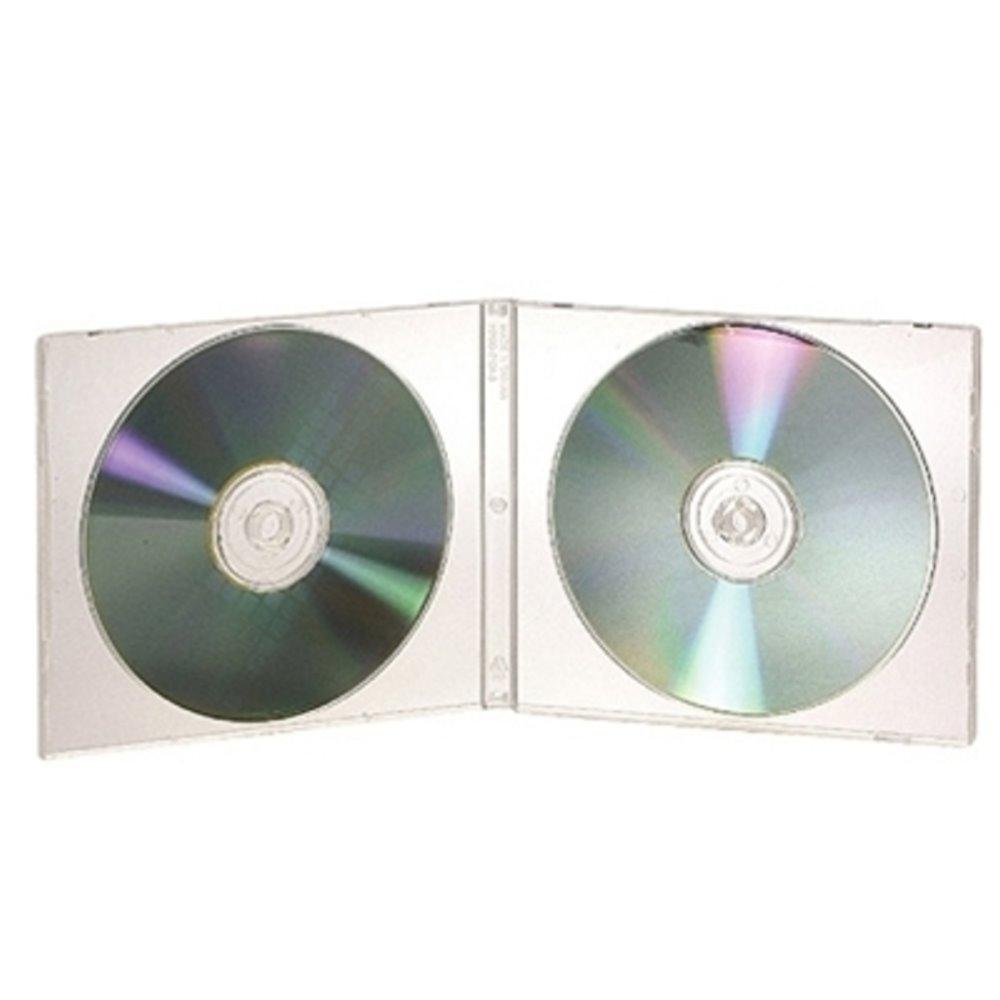 DigiStone2片裝標準型軟殼收納盒白色透明 25片