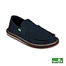 SANUK-HEMP 素面麻布內條紋懶人鞋-男款(深藍色)
