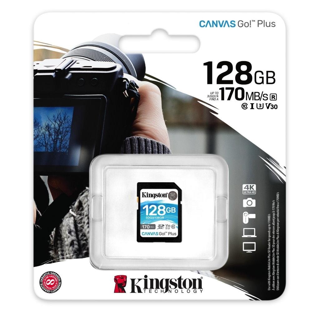 金士頓 KINGSTON SDG3 SDXC 170MB 128G U3 V30 A2 記憶卡