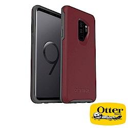 OtterBox Galaxy S9+炫彩幾何保護殼-紅灰