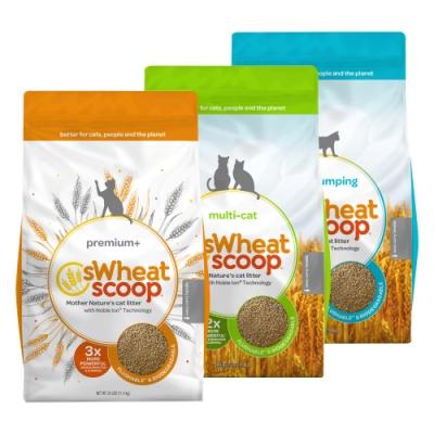 sWheat Scoop麥點| 橘標-加強除臭小麥貓砂 25磅