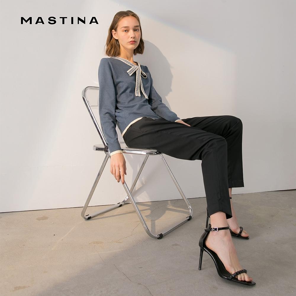 【MASTINA】領口綁帶造型上衣-針織衫(三色/魅力商品)