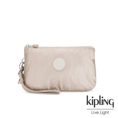 Kipling 都會時尚霧玫瑰金多層配件包-CREATIVITY XL