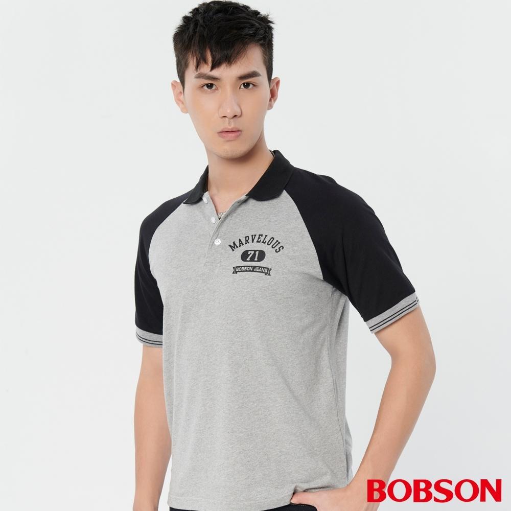 BOBSON  男款袖配色POLO上衣(28010-83)