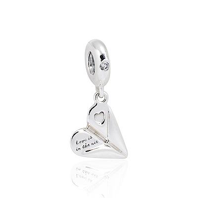 Pandora 潘朵拉 愛的紙飛機鑲鋯 垂墜純銀墜飾