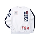 FILA #LINEA ITALIA 長袖圓領T恤-白 1TET-5407-WT