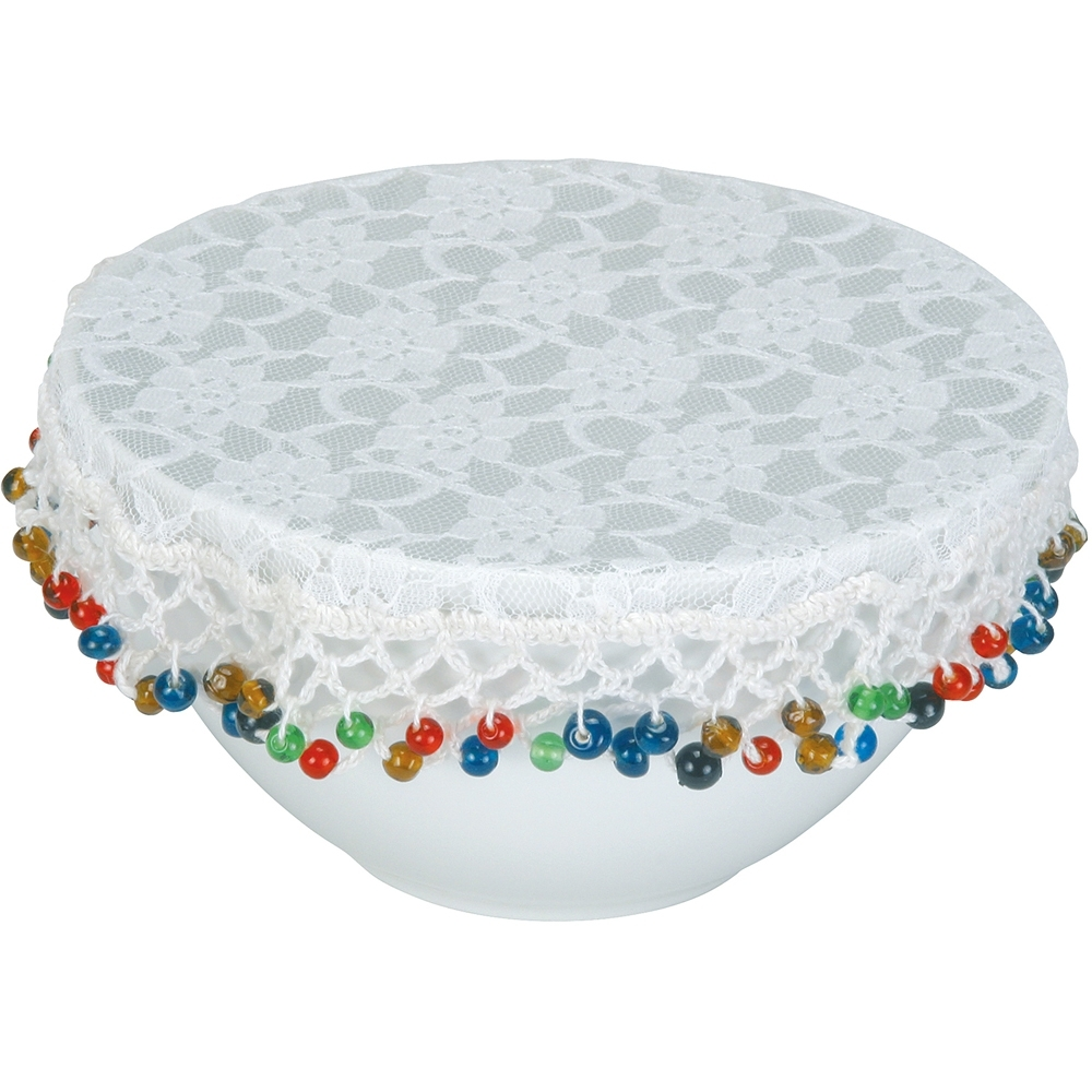 《KitchenCraft》防蟲蕾絲碗罩(彩珠20cm)