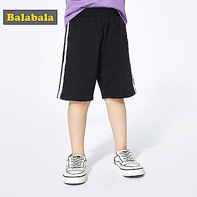 Balabala巴拉巴拉-運動風條紋純棉短褲-男(2色)