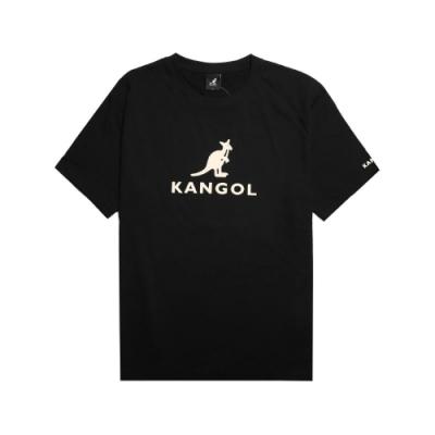 Kangol T恤 Casual Tee 運動休閒 男款 袋鼠 圓領 棉質 基本款 短袖 黑 米 6021100120