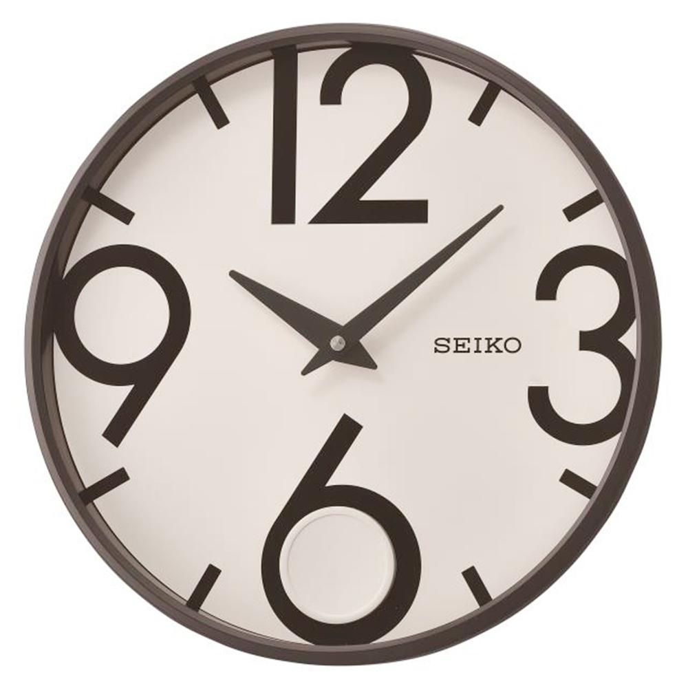 SEIKO 日本精工 簡約時尚 搖動擺錘 時鐘(QXC239K)33cm