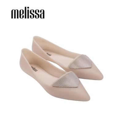 Melissa POINTY IV三角裝飾尖頭平底鞋-粉
