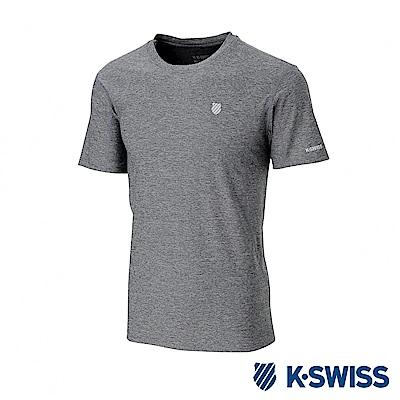 K-SWISS  PF Melange Tee排汗T恤-男-灰