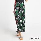 MOMA 熱帶叢林緞面寬褲