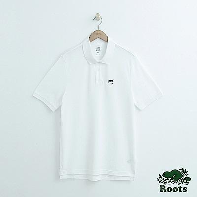 男裝Roots 經典短袖POLO衫-白
